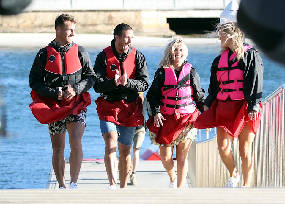 The couples seemed very excited for their boating date. Photo: Diimex