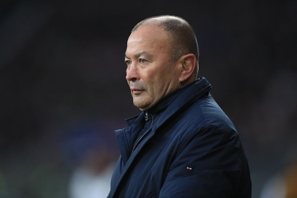 Barbarians' coach Eddie Jones during The Killik Cup match at Twickenham Stadium, London. (Photo by Mike Egerton/PA Images via Getty Images)