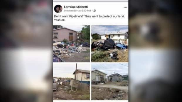 A Facebook post from Michetti was quickly denounced as anti-Indigenous racism by several officials in the Peace River region of B.C.