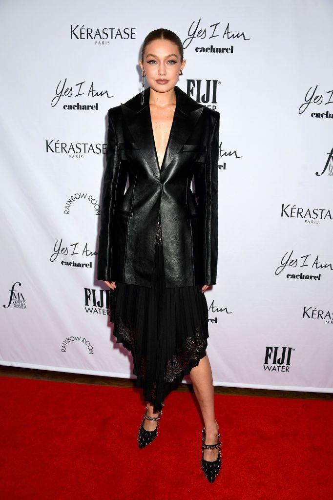 <p><strong>9 September</strong></p><p>Supermodel Gigi Hadid took a moment off the catwalk to attend the Daily Front Row Fashion Media Awards. She teamed a black lace dress with a sharp leather blazer by Givenchy.</p>