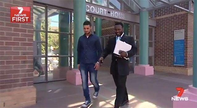 Mr Razzak and his lawyer leave court. Source: 7News