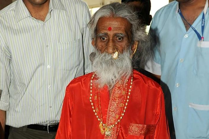 Prahlad Jani, who claimed he lived without food or water, in a photo taken on May 6, 2010 (AFP Photo/Sam PANTHAKY)