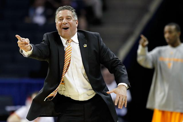 CHARLOTTE, NC - MARCH 18: Head coach Bruce Pearl of the Tennessee Volunteers calls out in the first half while taking on the Michigan Wolverines during the second round of the 2011 NCAA men's basketball tournament at Time Warner Cable Arena on March 18, 2011 in Charlotte, North Carolina. (Photo by Kevin C. Cox/Getty Images)