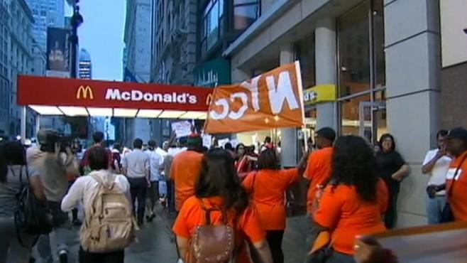 Fast Food Workers Walk Out, Demanding Higher Pay