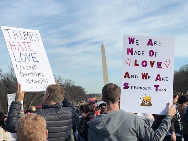 In front of the Washington Monument (Photo: Garance-Franke-Ruta/Yahoo News)