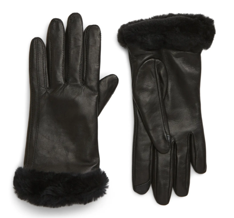 UGG Genuine Shearling Leather Tech Gloves