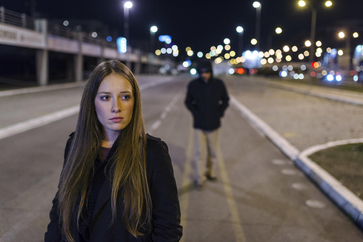 Half of all women in Britain don't feel safe out and about at night. (Getty Images, posed by models)