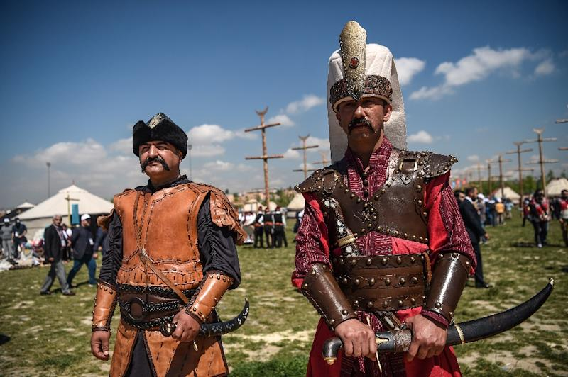 The Turkish government aims to celebrate the glory days of the Ottoman empire with the festival (AFP Photo/OZAN KOSE)