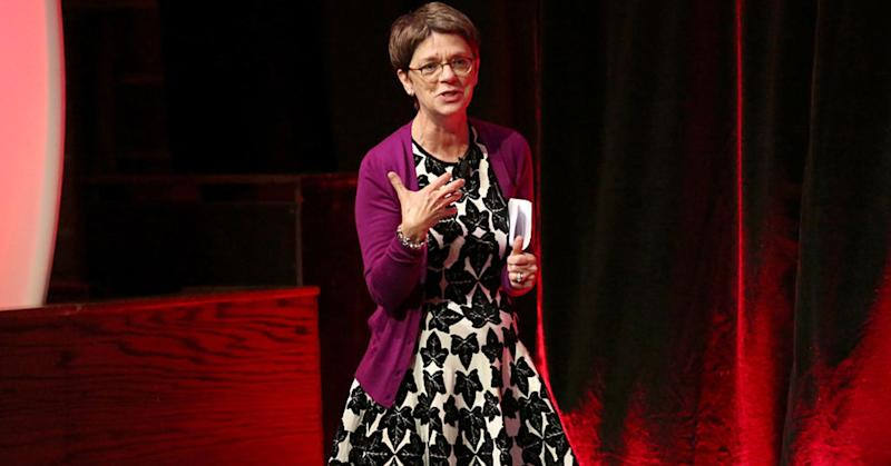Dana Anderson, chief transformation officer at MediaLink, speaks at an event in New York in September 2014, in her former role as a senior vice president at Mondelez.