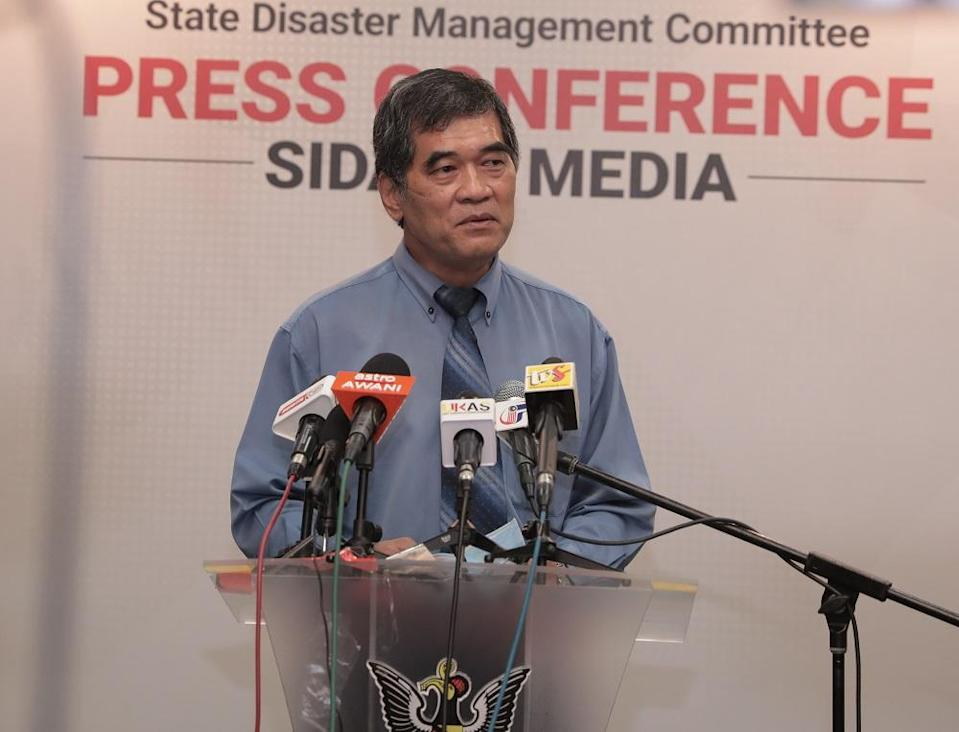State Health director Dr Chin Zin Hing speaks to reporters in Kuching July 30, 2020. — Picture courtesy of Sarawak Public Communications Unit (Ukas)