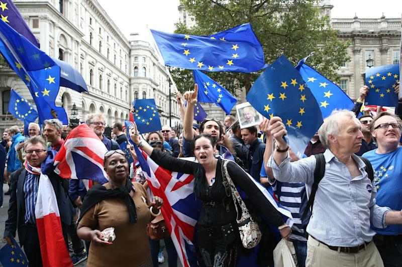 Come together: Brexit has continued to split the country, according to the polls (AFP/Getty Images)