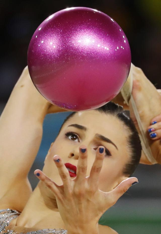 Rhythmic Gymnastics - Gold Coast 2018 Commonwealth Games - Individual Ball Final - Coomera Indoor Sports Centre - Gold Coast, Australia - April 13, 2018. Danielle Prince of Australia. REUTERS/David Gray