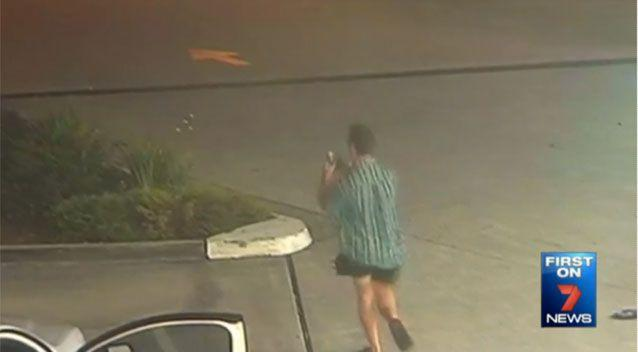 Kane Wiblen can be seen on CCTV filming the alleged incident. Source: 7News