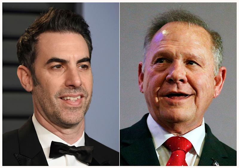 Sacha Baron Cohen is asking a federal judge to dismiss Roy Moore's defamation lawsuit over a 2018 television segment of