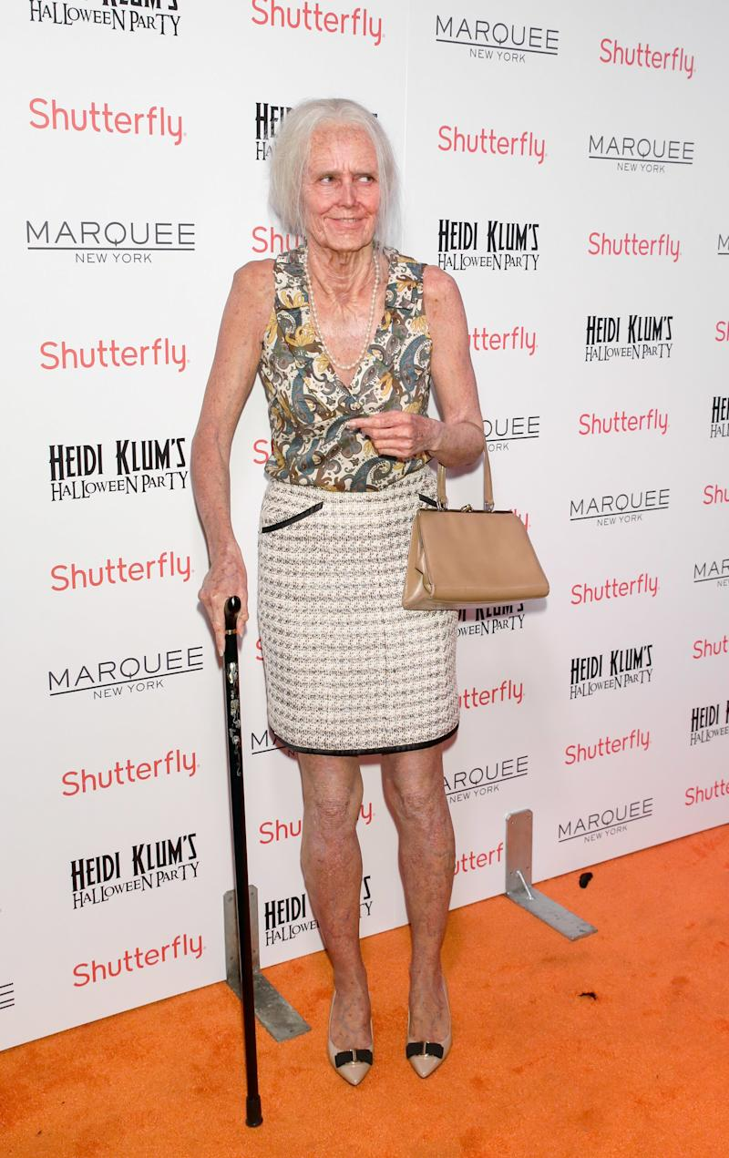 Heidi Klum attends the 2013 Heidi Klum Halloween Party as an elderly woman at Marquee on October 31, 2013 in New York City. Photo courtesy of Getty Images.