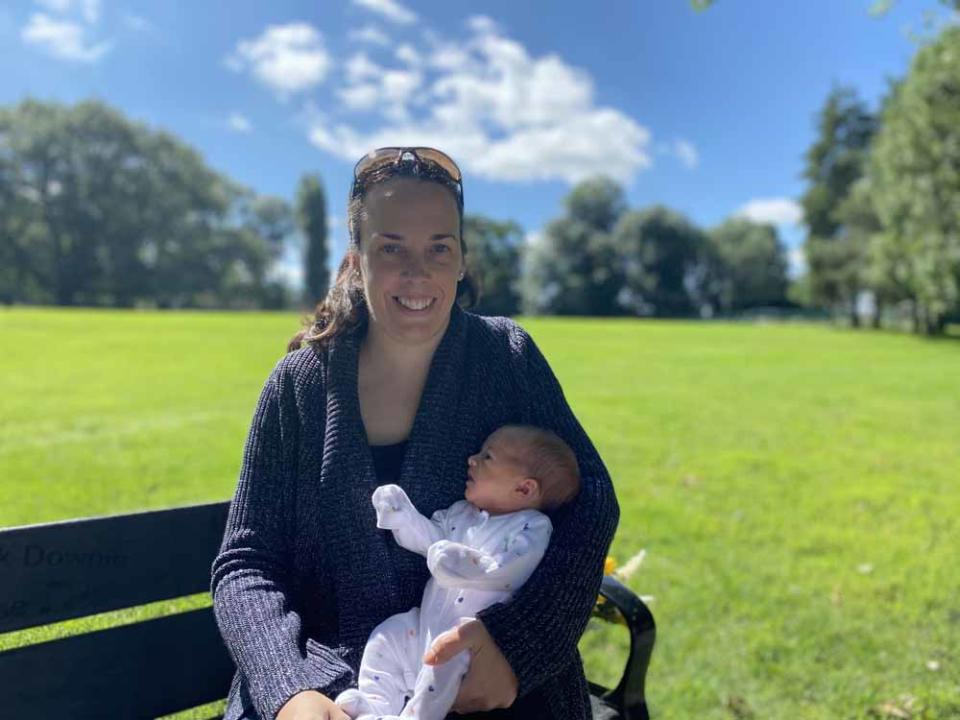 Emma in the park with Willow Grace. PA REAL LIFE