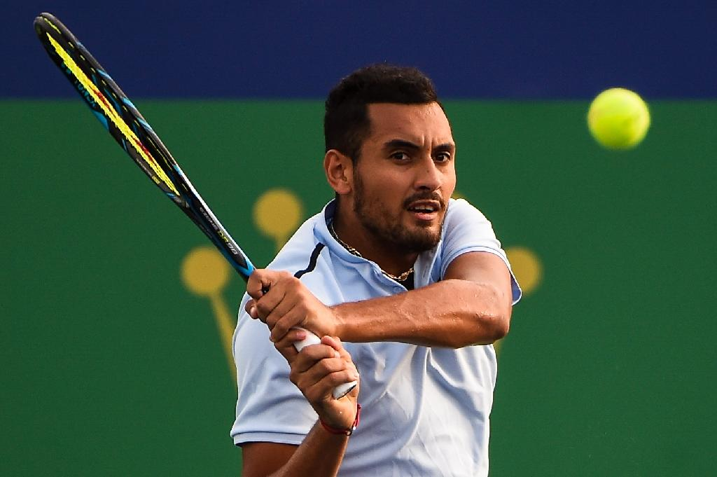 Nick Kyrgios of Australia, pictured on October 10, 2017, endured a bittersweet season on the court, losing in the second round of the Australian and French Opens before first round exits at Wimbledon and the US Open (AFP Photo/CHANDAN KHANNA)