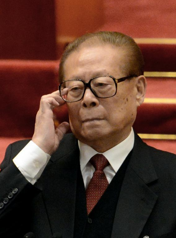 Former Chinese president Jiang Zemin at the 18th Communist Party Congress at the Great Hall of the People in Beijing on November 14, 2012