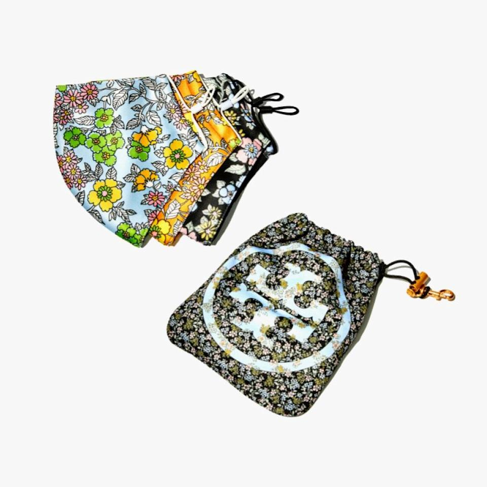 """$35, TORY BURCH. <a href=""""https://www.toryburch.com/printed-face-mask-set-of-3-with-pouch/82975.html?color=964"""" rel=""""nofollow noopener"""" target=""""_blank"""" data-ylk=""""slk:Get it now!"""" class=""""link rapid-noclick-resp"""">Get it now!</a>"""