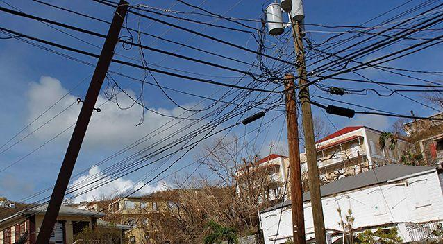 Thousands of homes were left without power after Hurricane Irma. Source: AAP