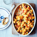 """<p>If you love mac 'n' cheese, this one's for you! There's no need to boil the gnocchi, so it's ready in a flash.</p><p><strong>Recipe: <a href=""""https://www.goodhousekeeping.com/uk/food/recipes/a568027/gnocchi-chorizo-gratin/"""" rel=""""nofollow noopener"""" target=""""_blank"""" data-ylk=""""slk:Gnocchi and Chorizo Gratin Recipe"""" class=""""link rapid-noclick-resp"""">Gnocchi and Chorizo Gratin Recipe</a></strong></p>"""