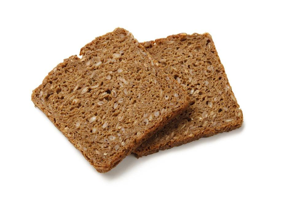 "<p>Processed grains are decidedly untrendy these days, due to the rising low-carb movement. But this idea is half-baked: fibrous wholegrains – and rye in particular – are a great weapon for combatting type 2 diabetes, according to Swedish scientists. German pumpernickel, made with coarsely ground rye, is the smartest pick, but a study by Sweden's <a href=""https://www.sciencedaily.com/releases/2010/02/100212210212.htm"" rel=""nofollow noopener"" target=""_blank"" data-ylk=""slk:Lund University"" class=""link rapid-noclick-resp"">Lund University</a> found even ultra-processed white rye has a gentler effect on blood sugar than regular wholemeal bread. Use your loaf in the bakery aisle.</p>"