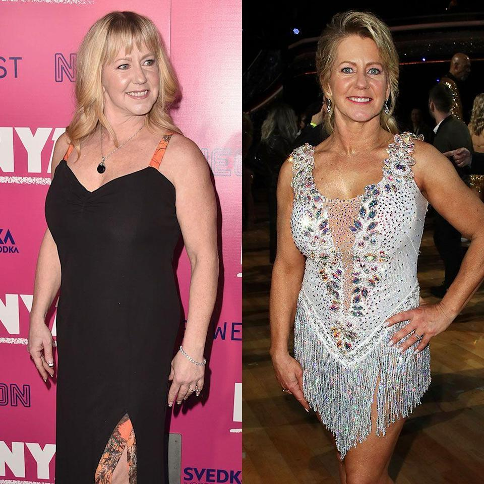 """<p>At 47, the former Olympic figure skater danced her way to the season 26 finale in 2018. She lost the Mirrorball Trophy, but also lost a few pounds. Tonya didn't reveal a specific number, she doesn't """"think that's anybody's business. You can tell that I've lost a lot,"""" she told <em><a href=""""https://www.newsweek.com/tonya-harding-weight-loss-dwts-938536"""" rel=""""nofollow noopener"""" target=""""_blank"""" data-ylk=""""slk:Newsweek."""" class=""""link rapid-noclick-resp"""">Newsweek. </a></em>""""I found myself again knowing that I can achieve such greatness doing something that I love to do,"""" she said. """"You don't ever give up on yourself. I always keep going no matter what it is.""""</p>"""