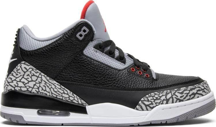 uk availability 6431e 69a44 Air Jordan 3 Retro OG  Black Cement  2018 CREDIT  GOAT