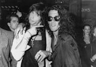 <p>Steven Tyler and Stephen Pearcy of Ratt at the 1987 MTV Awards.</p>