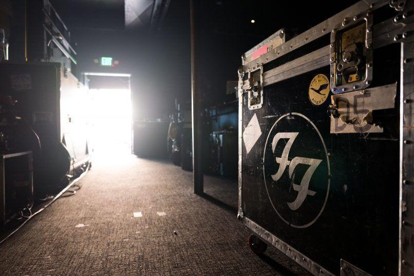 Foo Fighters Backstage, Photo by Andrew Stuart