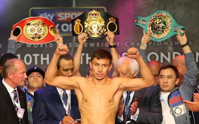 <span>Gennady Golovkin before his match with Kell Brook</span> <span>Credit: REX </span>