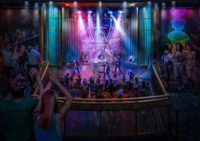 Live music venue Music Hall will make its Oasis Class debut on board Royal Caribbean's amplified Oasis of the Seas. A roster of live cover bands, an expansive dance floor, pool tables and lounge seating across two levels give vacationers ample room to end the night on a high note at a place where every seat is the best seat in the house.