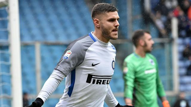 Inter obliterated Sampdoria 5-0 thanks to a four-goal Mauro Icardi haul.