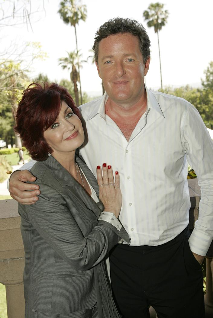NBC UNIVERSAL 2007 SUMMER PRESS DAY -- NBC Entertainment -- Pictured: (l-r) Piers Morgan and Sharon Osbourne  on April 27, 2007 -- Photo by: Chris Haston/NBCU Photo Bank