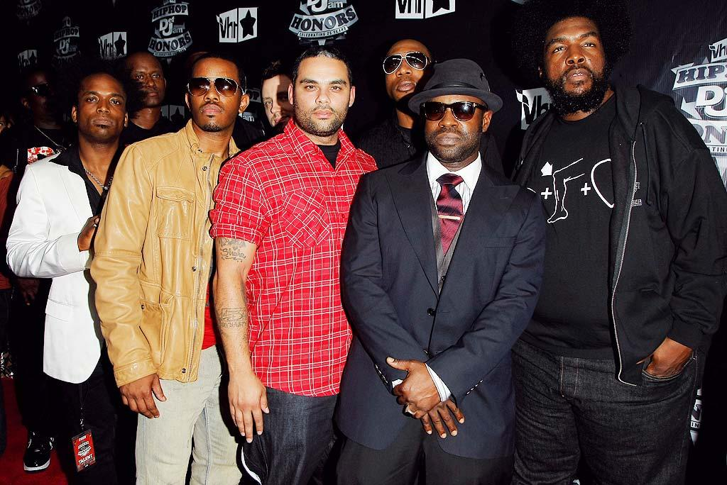 "The Roots -- Fallon's house band on ""Late Night With Jimmy Fallon"" -- kicked off the night with a performance of ""Rock the Bells"" and were joined on stage by Eminem. Jemal Countess/<a href=""http://www.wireimage.com"" target=""new"">WireImage.com</a> - September 23, 2009"