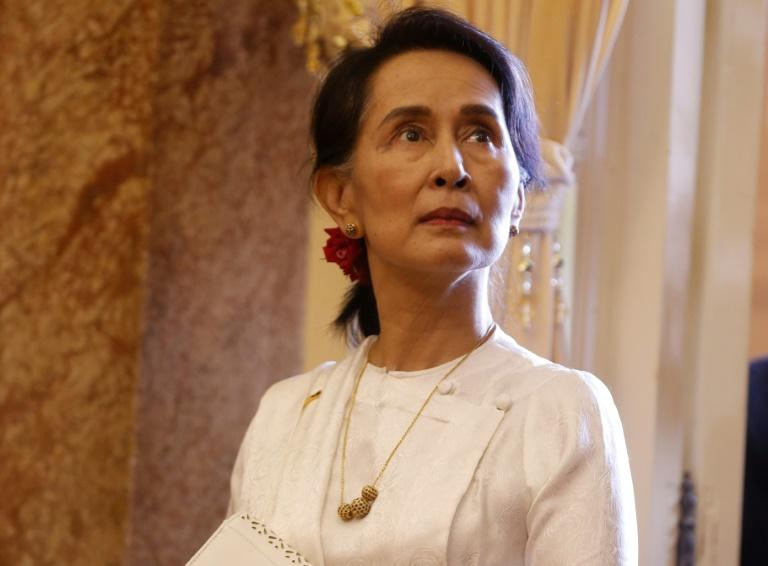 Suu Kyi, once garlanded as a global rights champion, has seen a sharp fall from grace due to her failure to speak up following a brutal military crackdown on Myanmar's Rohingya minority
