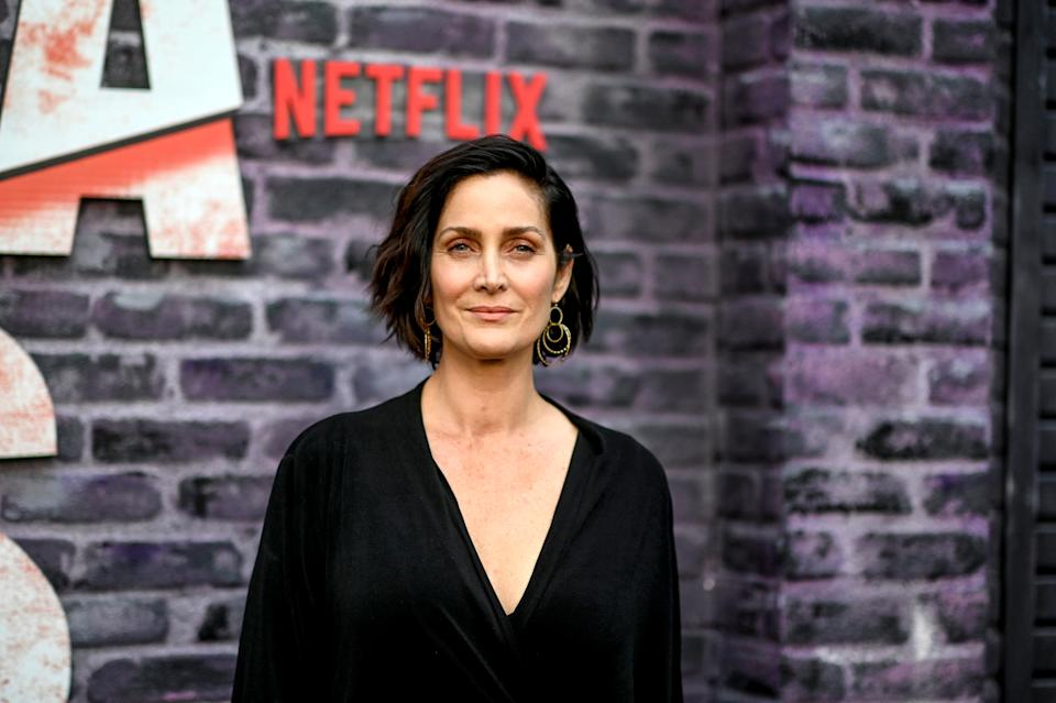 Carrie-Anne Moss in 2019.Moss said she'd been warned by fellow actors that her opportunities would diminish in her 40s but shrugged off the notion at first — then she saw it firsthand. (Photo: Frazer Harrison via Getty Images)