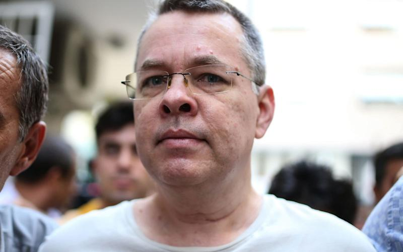Andrew Brunson, an American pastor, has been accused of assisting in a coup against the Turkish president. He was freed on Friday - AFP