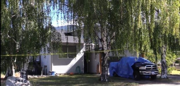 A residence in the 3900 block of 3 St. in Naramata, B.C., where a woman's body was found by police on Wednesday, June 9, 2021. (Castanet - image credit)
