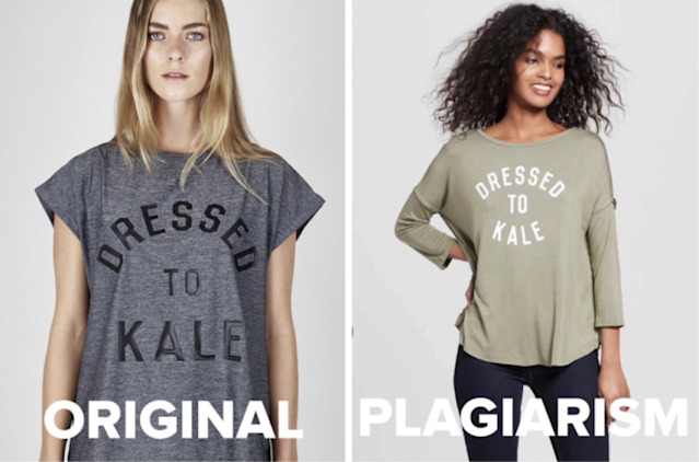 The T-shirt style that Target is accused of lifting from a small designer. (Photo: Twitter/Charli Cohen)
