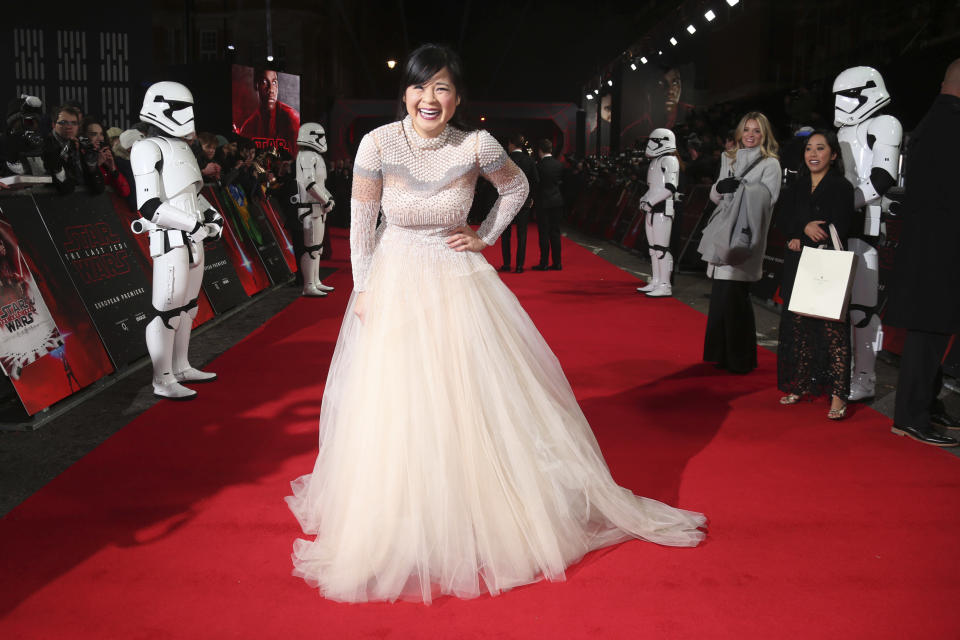 Tran rocketed to fame after starring in <em>Star Wars: The Last Jedi</em>. (Photo: Joel C Ryan/Invision/AP)