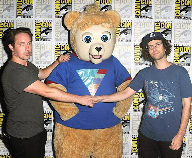 "<p>Beck Bennett, ""Brigsby Bear,"" and Kyle Mooney at the Sony Pictures Classics Presentation at Comic-Con on July 22, 2017 in San Diego. (Photo: Albert L. Ortega/Getty Images) </p>"