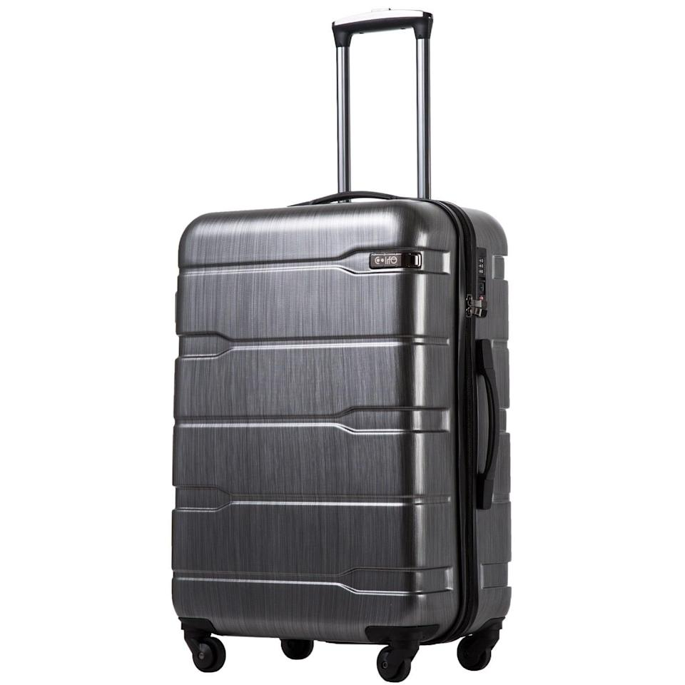 <p>This <span>Coolife Luggage Carry-On Suitcase</span> ($60) is only 6.3 pounds, which is just an excuse to pack more. Plus, it's got a tough exterior, which is great if things don't go as planned.</p>