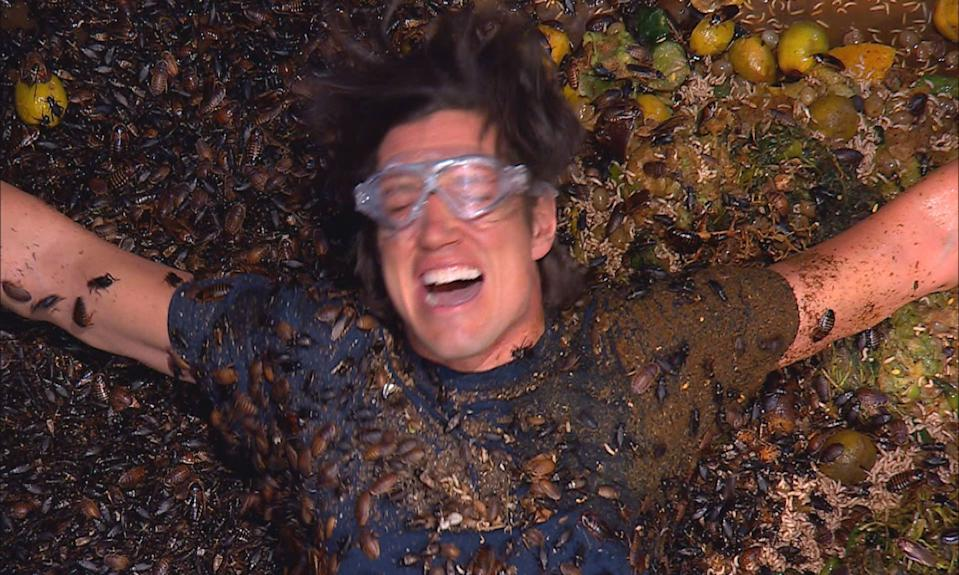 Vernon Kay endures the Table of Torment on 'I'm a Celebrity... Get Me Out of Here!' (ITV/Shutterstock)