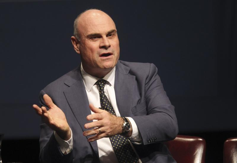 FILE PHOTO: AIG CEO Hancock speaks during the White House summit on cybersecurity and consumer protection in Palo Alto