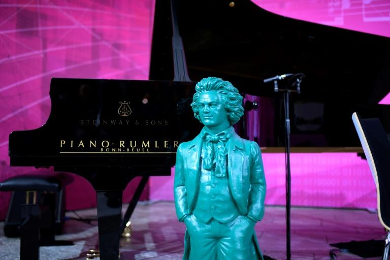 A statue of Beethoven -- Germany's most famous musical figure -- by German artist Ottmar Hoerl (AFP Photo/Ina FASSBENDER)