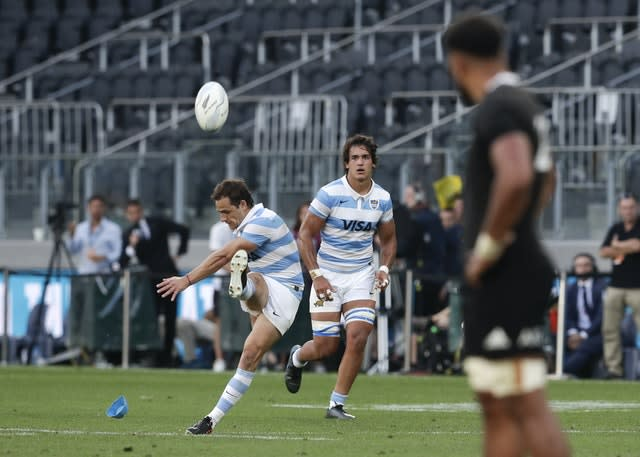 Nicolas Sanchez kicked 25 points for Argentina in their maiden victory over New Zealand