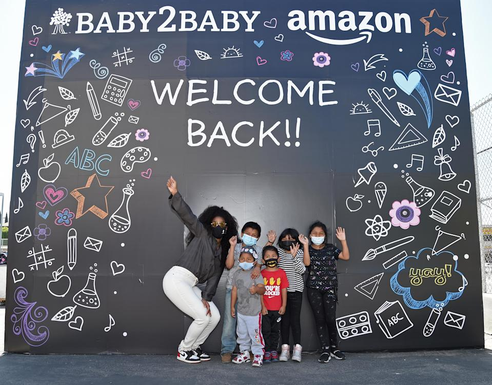 LOS ANGELES, CALIFORNIA - APRIL 08: Kelly Rowland attends Welcome Back With Baby2Baby Presented By Amazon Hosted By Kelly Rowland on April 08, 2021 in Los Angeles, California. (Photo by Michael Kovac/Getty Images for Baby2Baby)