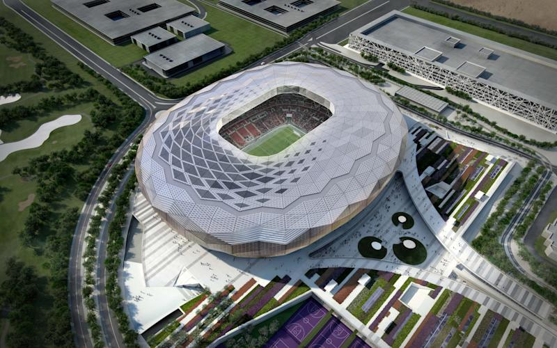 An artist's impression of the Qatar Foundation Stadium for the World Cup 2022 - AP