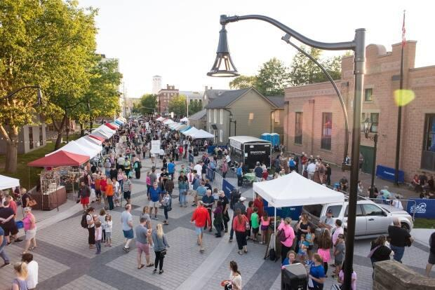 If the market were to open, the city would need to limit the number of visitors and ensure six feet of distance between vendors and patrons. (Garrison Night Market/Facebook - image credit)